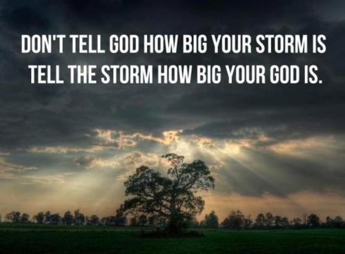 When In a Storm...