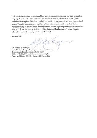 Alfred de Zayas Letter page 2