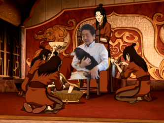 Shinzo Abe meme Japan Avatar the Last Air Bender Fire Nation